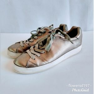 Rag and Bone Silver Sneakers Size 8